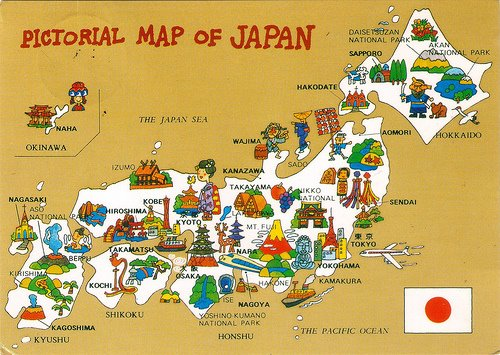 Geograghy and Map of Japan – Tourist Attractions Map In Japan
