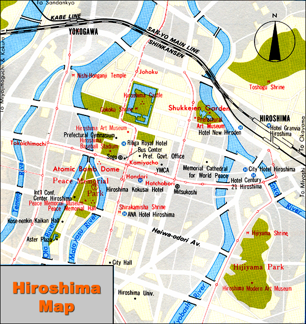 Map of Hiroshima Japan HAPPINESS is JAPAN
