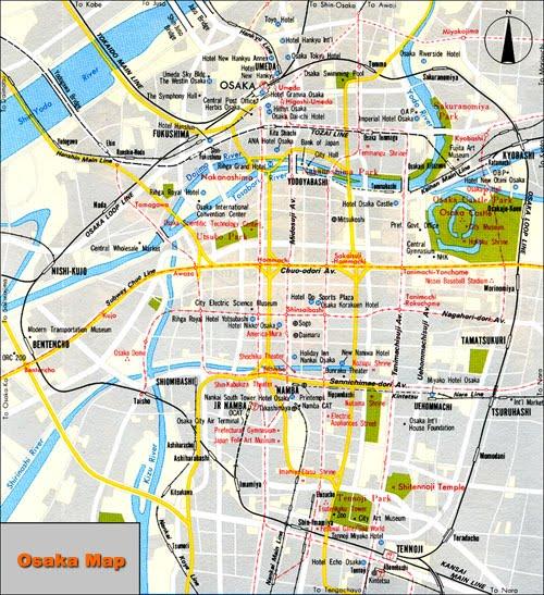 Map of Osaka Japan HAPPINESS is JAPAN